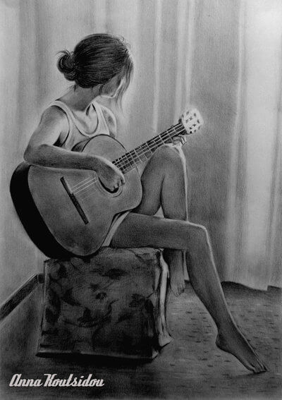20 Mind Blowing Pencil Drawings By Greek Artist That Illustrate The Beauty Of Love I Can Feel The Music Flowing Through My Veins