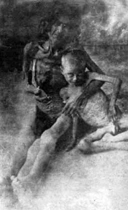 The Recognition Of The Genocides As The Beginning Of Justice Against The Crimes Against Humanity And Barbarity Starved Armenian Woman With Her Son In Syrian Desert, 1916