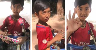 Video clip of talented boy selling souvenirs who could speak eight different languages — buyer was amazed and posted his clip online