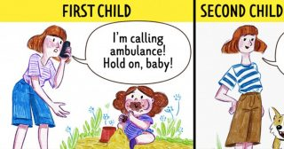 14 Honest Comics That Show the Difference Between Having the First and Second Child