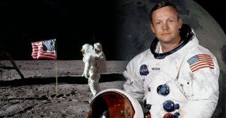 នីល អាមស្ត្រង (Neil Armstrong) មនុស្សជាតិដំបូងគេ បានជាន់ភពព្រះចន្ទ