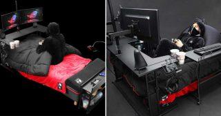 ត្រូវចិត្តអ្នកលេងហ្គេម! គ្រែហ្គេមម៉ាក Gaming Bed ពិតជាសាកសមសម្រាប់ អ្នកលេងហ្គេម ចង់អង្គុយ ចង់ដេកលេងហ្គេមក៏បាន!