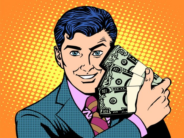 Depositphotos_88274076 Stock Illustration Rich With Wads Of Dollars