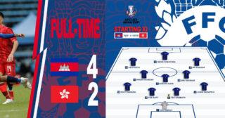 U23 កម្ពុជាឈ្នះU23 ហុងកុង៤ទល់២ក្នុងពានរង្វាន់ AFC Asian Cup 2023